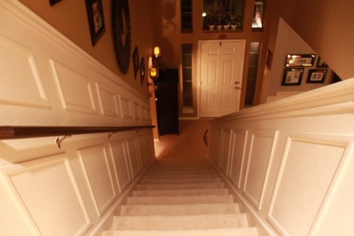staircase makeover light decor