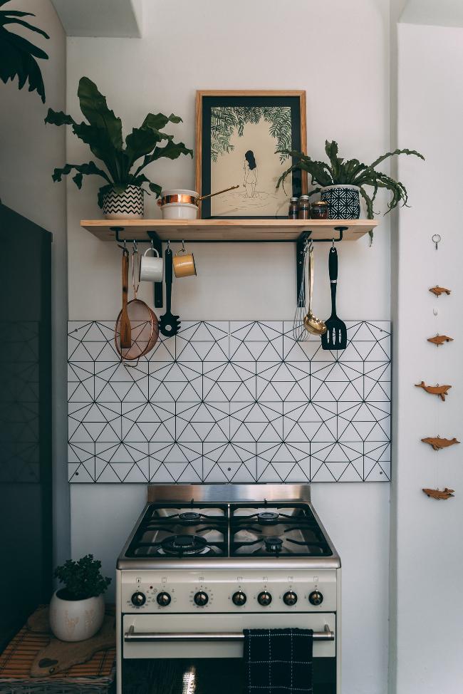 cocina de estilo boho-chic