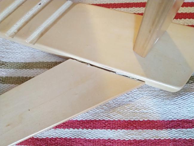 el pegamento crea una capa que rebosa y hace feo - es el momento de quitarlo