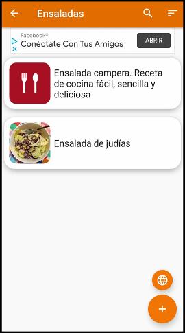app para recetas Mis recetas