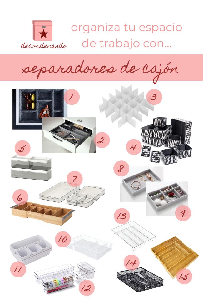 separadores de cajón