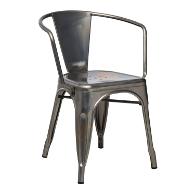 silla de hierro envejecido