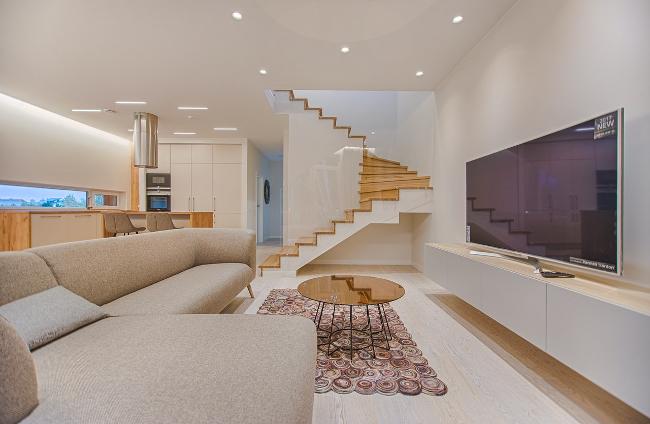 vivienda contemporánea: sofisticada y confortable