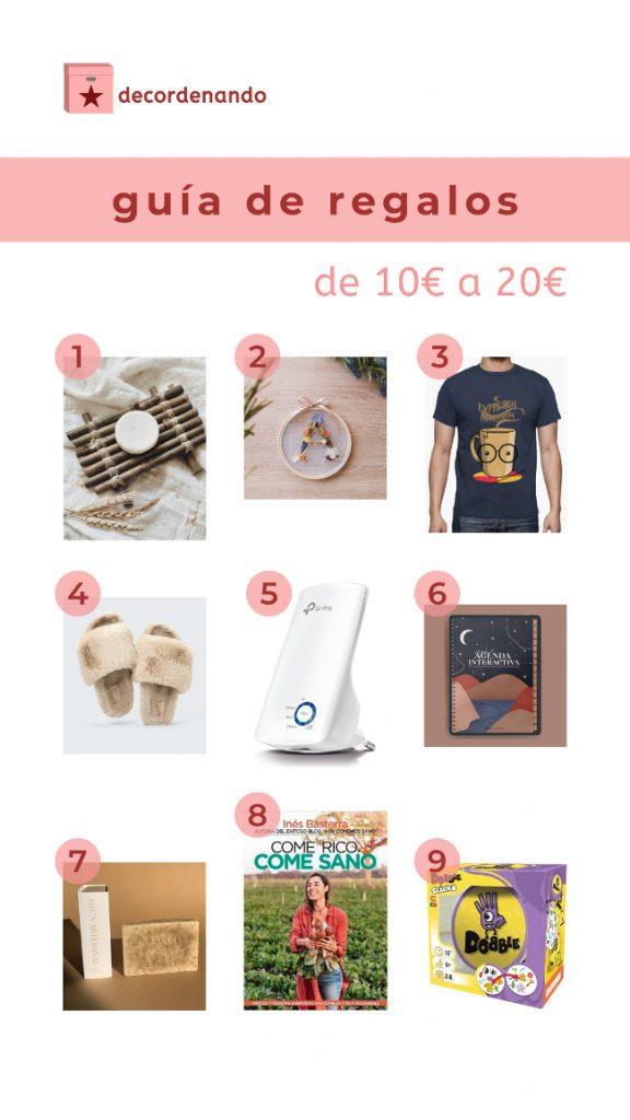 guía de regalos entre 10 y 20 euros