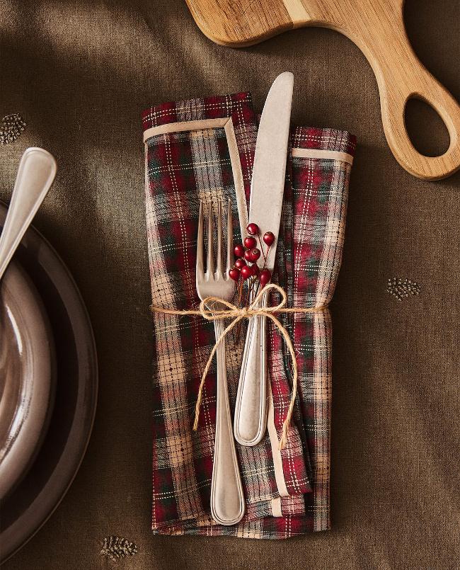 servilletero rústico en Zara