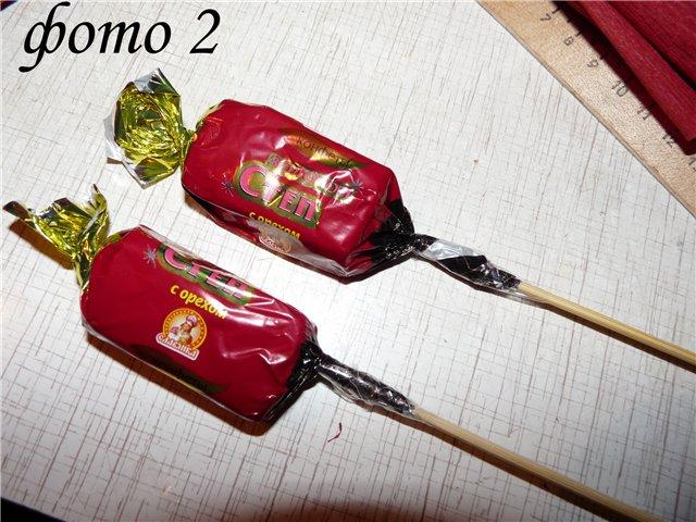 Конфетный букет Розочка