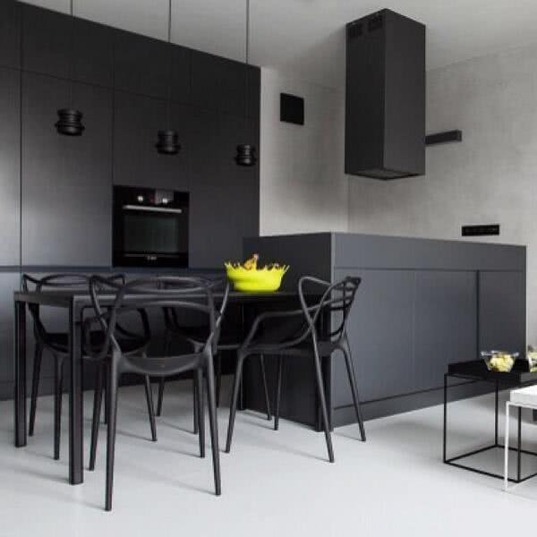 Resultado de imagem para cozinhas preta