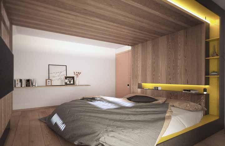 No quarto, o ideal é usar o amarelo apenas nos detalhes para não atrapalhar o momento do sono