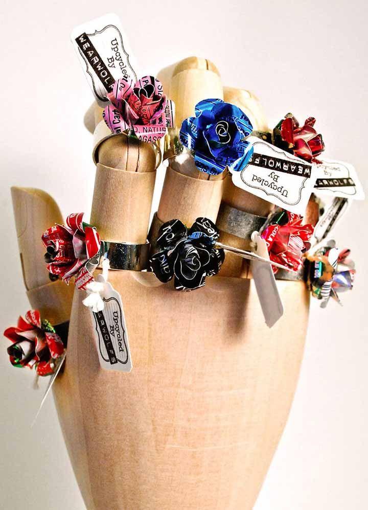 Anéis de flores! Coloridos e criativos