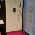 Banish The Dingy Bathroom and Shower Floors With Color