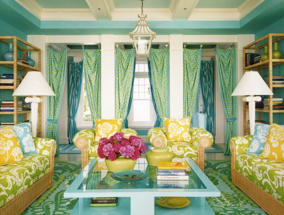 Anthony Baratta colorful living room