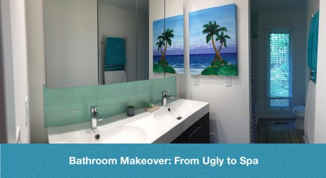Bathoom Makeover From Ugly to Spa