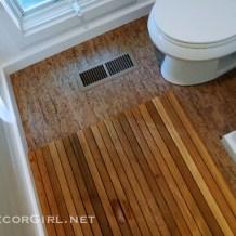 Bathroom makeover cork floor