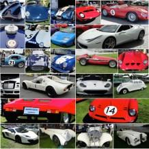 Vintage Cars As Patriotic Flag