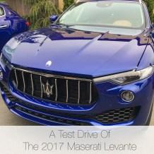 Test drive of Maserati Levante