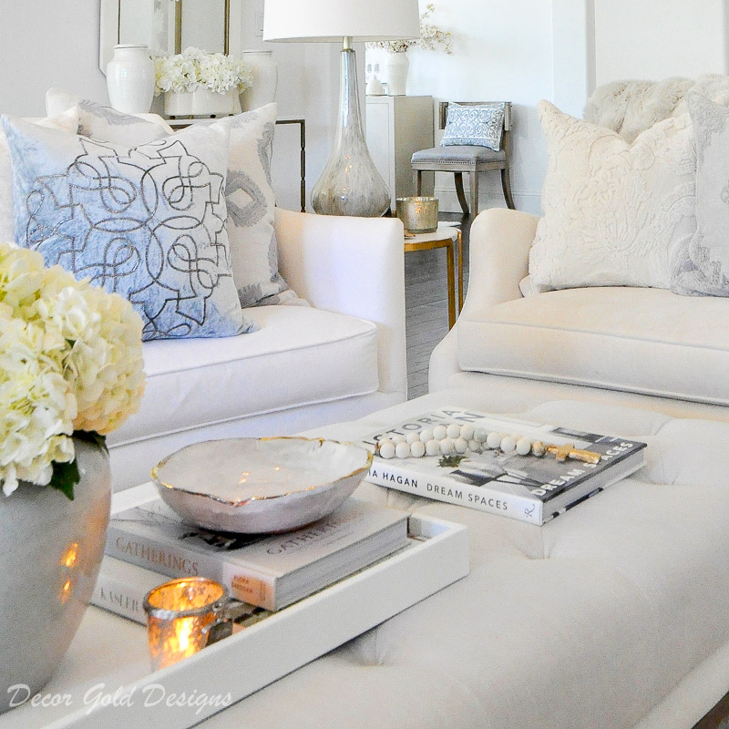 coffee table styling decor gold designs