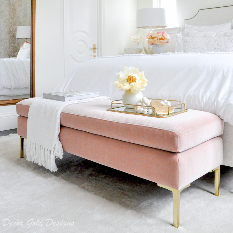 decorating with blush pink decor gold