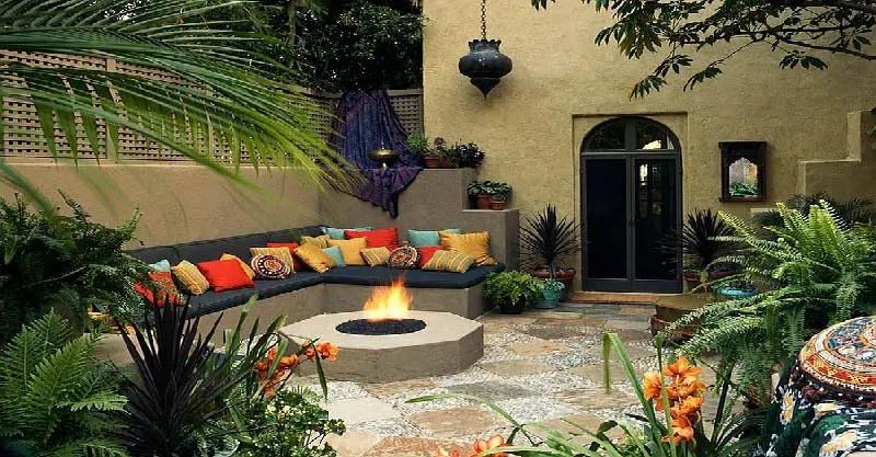 Exotic Moroccan Patios on Moroccan Backyard Design id=86715