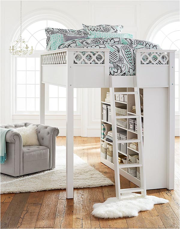 31 Cute Bedrooms For Teenage Girl You'll Love | Decor Home ... on Teenage Bed Ideas  id=28179
