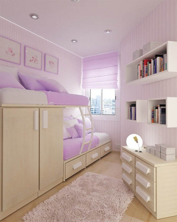 17 Unique Purple Bedroom Ideas For Teenage Girl | Decor ... on Teenage Small Bedroom Ideas  id=92284
