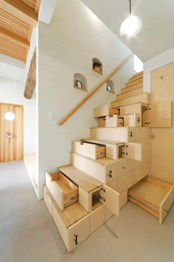 Cầu thang với bộ lưu trữ tích hợp # cầu thang # cầu thang # cầu thang # cầu thang #decorhomeideas