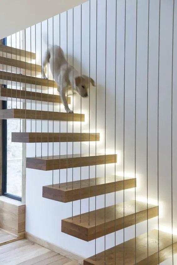 Cầu thang có đèn gắn trong # cầu thang # cầu thang # cầu thang # cầu thang #decorhomeideas