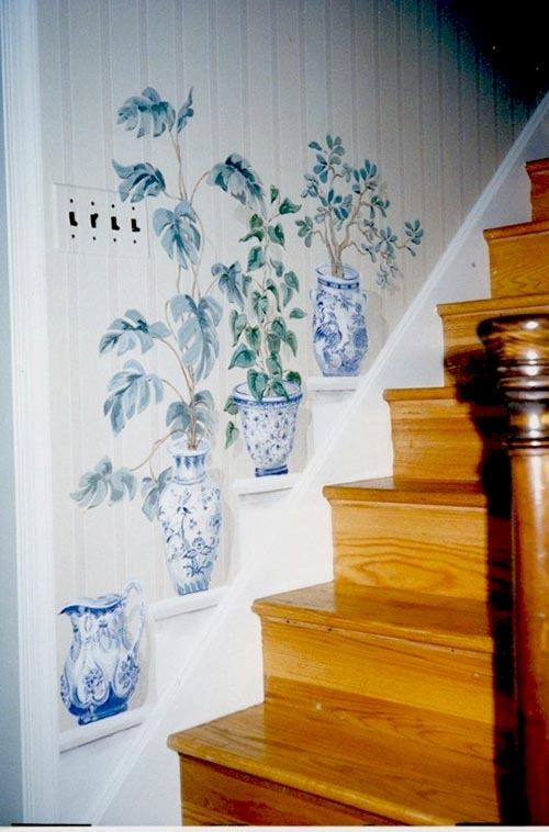 27 Awesome Staircase Decorating Ideas Decor Home Ideas   Wall Painting Designs For Staircase   Simple   Decorative   Two Tone   Modern   Hall Nature