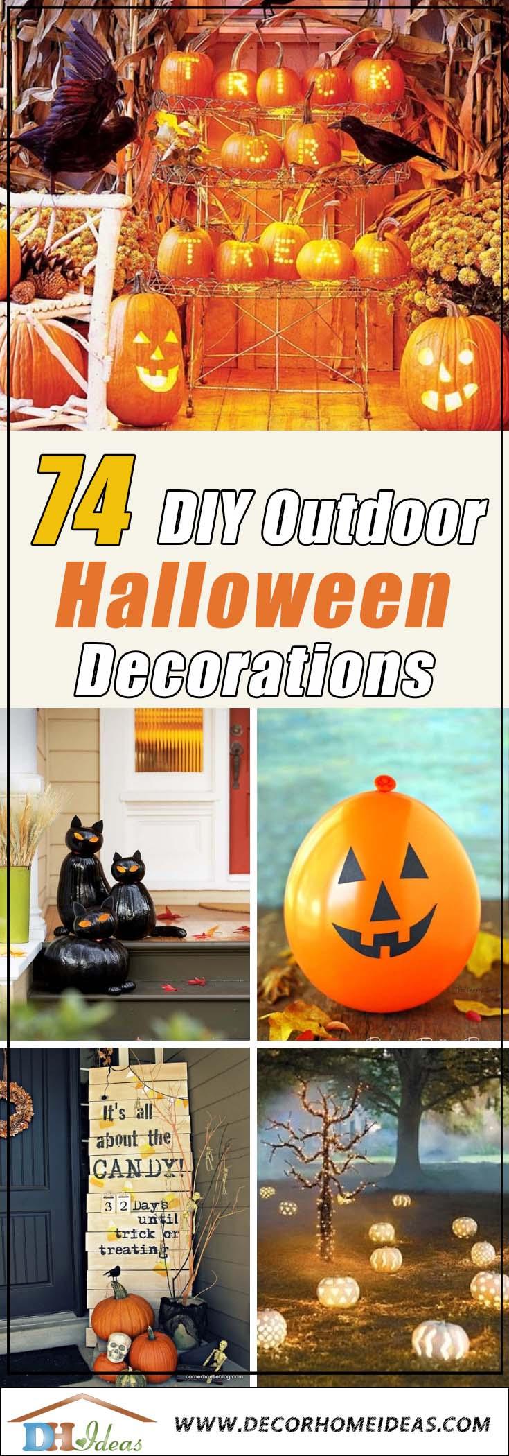 74 Best Diy Outdoor Halloween Decorations Complete List For 2020 Decor Home Ideas