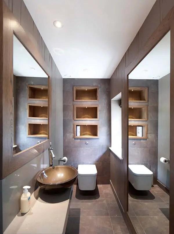 Phòng tắm hẹp có gương lớn # phòng tắm # phòng tắm chung cư # phòng tắm hẹp #decorhomeideas