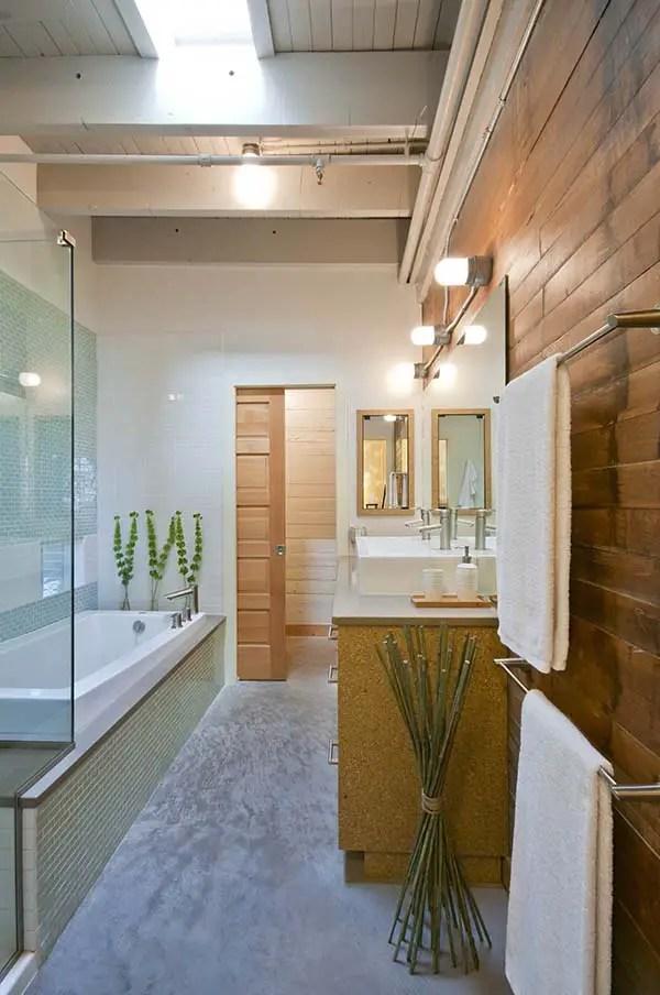 Phòng tắm hẹp được trang trí bằng gỗ # phòng tắm # phòng tắm # phòng tắm #decorhomeideas