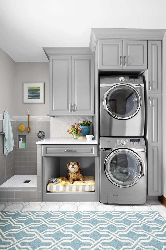 30 Beautiful and Neat Small Laundry Room Design Ideas ... on Laundry Room Decor Ideas  id=36880