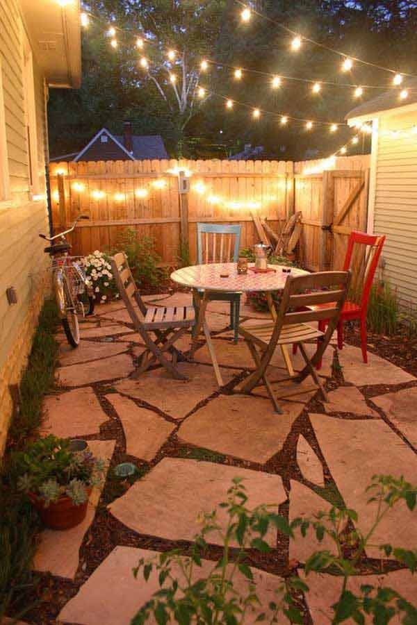 patio string lighting ideas