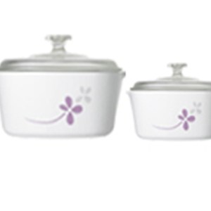 CorningWare 4pc Casserole Warm Pansies Set A-152-WP
