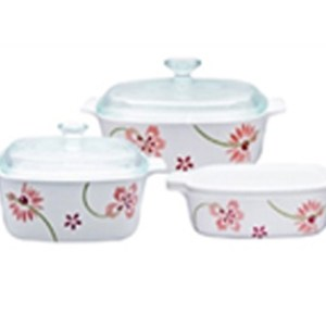 CorningWare 6pc Casserole Pretty Pink Set A-140-PP