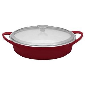 CorningWare Cast Aluminum Braiser 1117389 Tomato