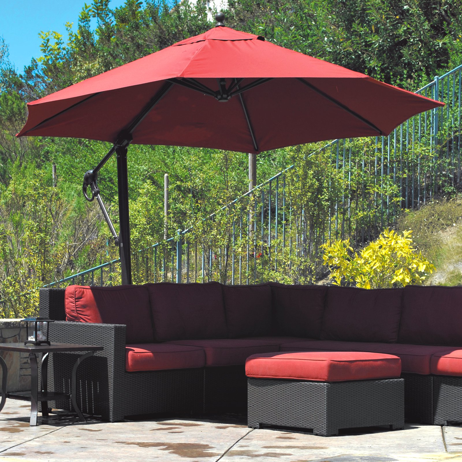 offset patio umbrella for shade from