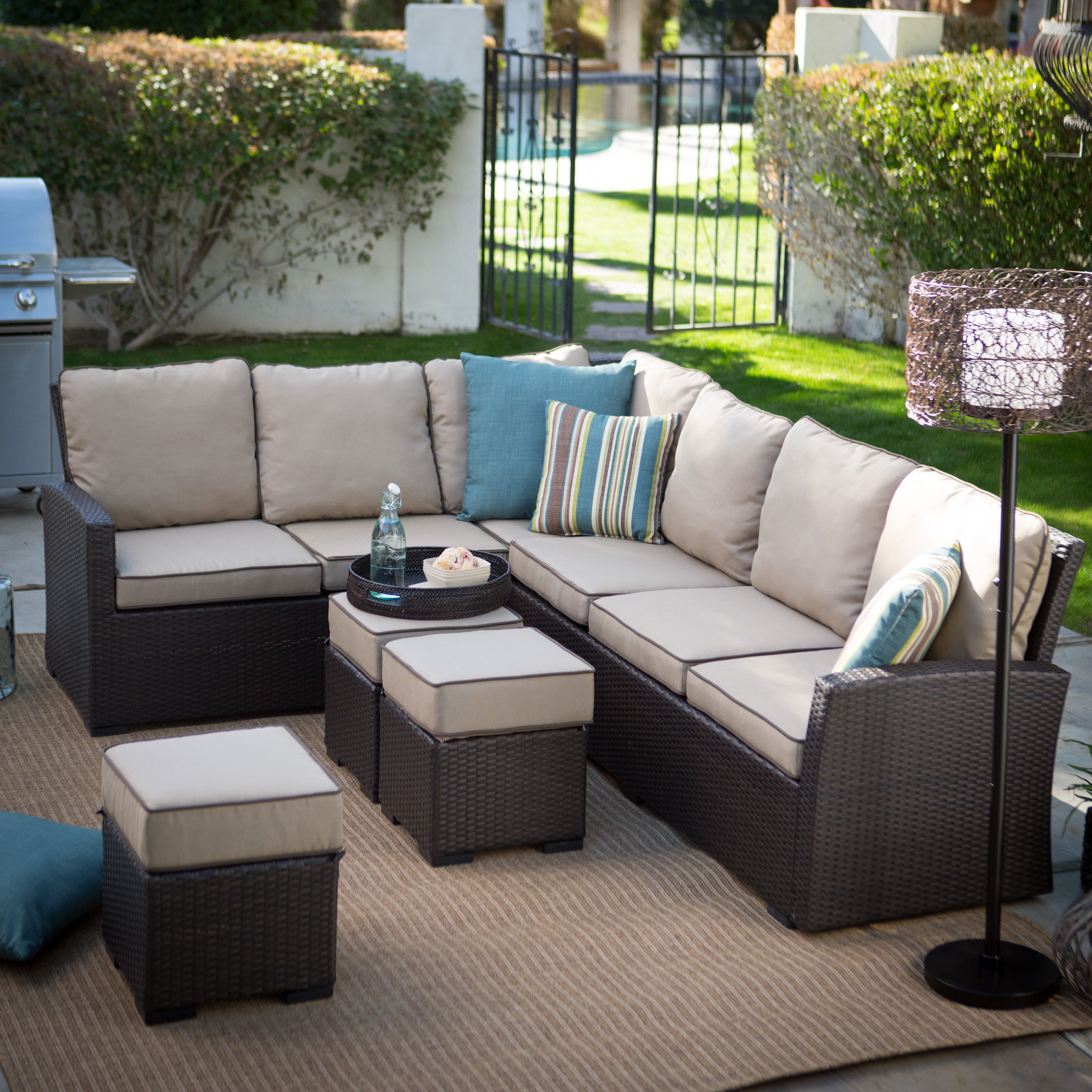 Add the Beauty of Outdoor Sectional Sofa to your Compound ... on Outdoor Loveseat Sets  id=21456
