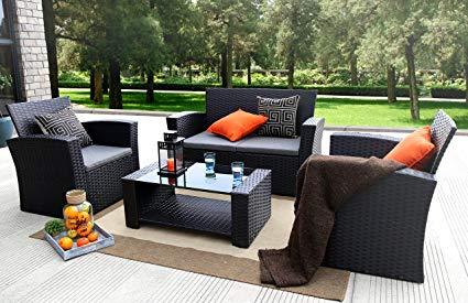 rattan outdoor furniture accentuates