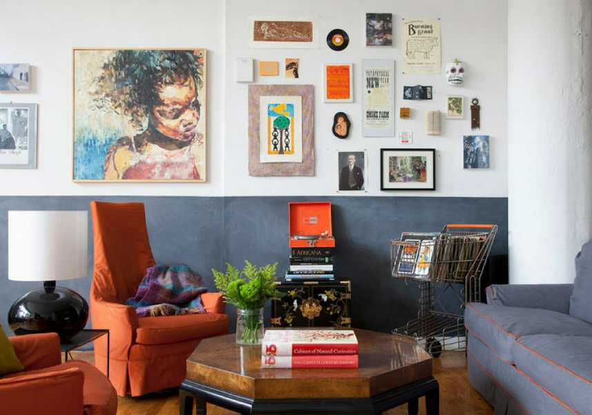 7 Hot Tips for Creating Beautiful Eclectic Interior Design eclectic interior design living room with bright colors