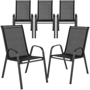kurz stacking patio dining chair set of 5