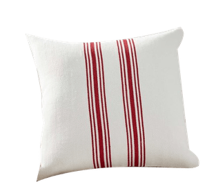 culver reversible striped grainsack pillow covers red multi