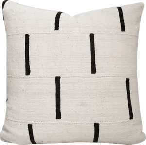 african mudcloth pillow cover ethnic handwoven black and cream 20 x20
