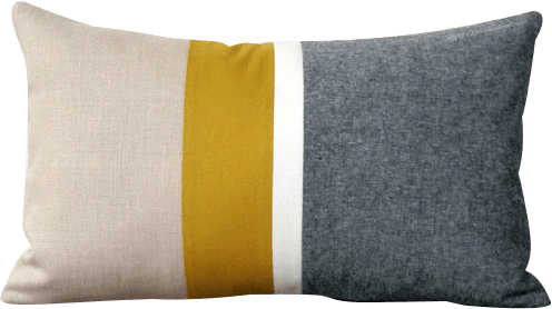 chambray and mustard yellow striped lumbar pillow cover minimal home decor by jillianrenedecor custom colors available honey gold 12 x20 gray
