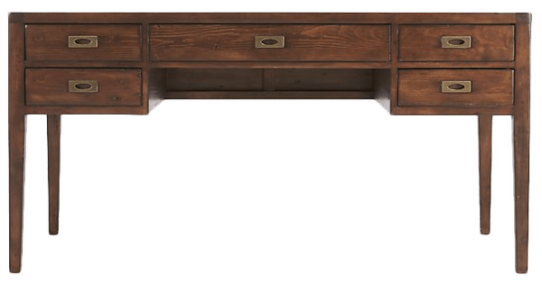 "Morris 60"" Chocolate Brown Desk 