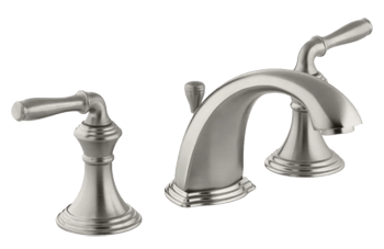 kohler k 394 4 bn devonshire widespread bathroom faucet with ultraglide valve and quick mount technology free metal pop up drain assembly with