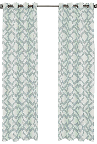ryder 95 inch grommet window curtain panel in spa