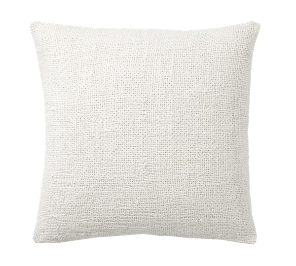 faye textured linen pillow cover 20 ivory