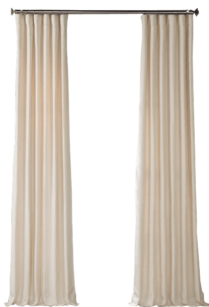 custom linen curtains ancient ivory french linen curtain pole pocket with back tabs lined sold per panel 4 returns weighted hems