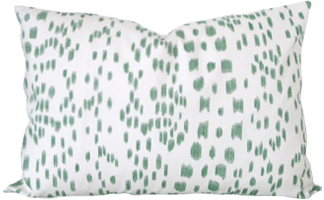 decorative pillow cover les touches brunschwig and fils green dots 14 x 20 inches
