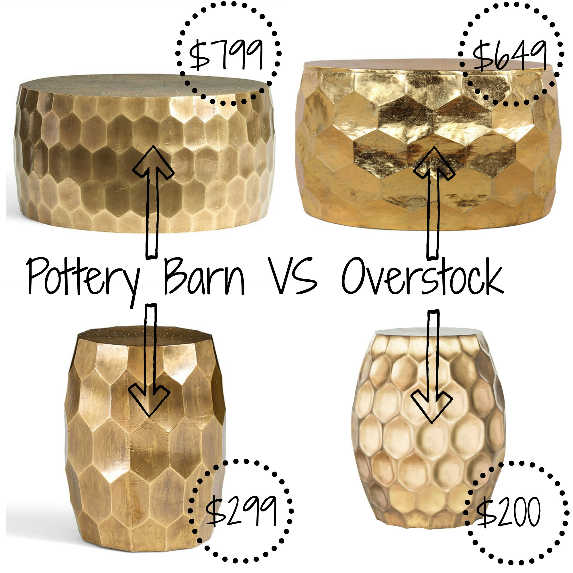 pottery barn decor look alikes